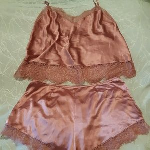 Victoria's Secret Pink Silky 2pc Sleepwear